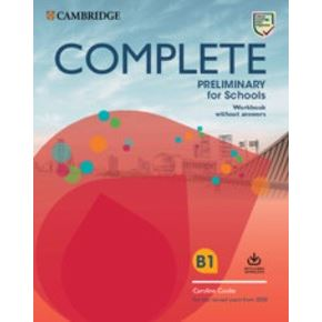 Complete Preliminary for Schools (2nd edition) - Workbook + Audio Download without key